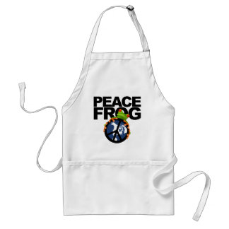 peace frog-2 adult apron