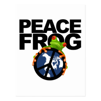 Peace Frog-2 Postcard