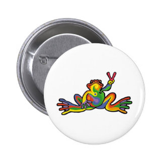 Peace Frog Button