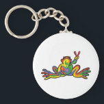 "Peace Frog Keychain<br><div class=""desc"">Keychain Template</div>"