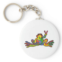 Peace Frog Keychain