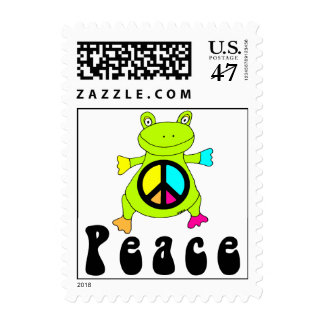 Peace Frog Postage Stamp