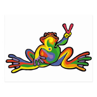 Peace Frog Postcard