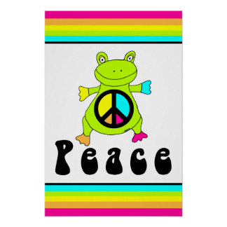Peace Frog Poster
