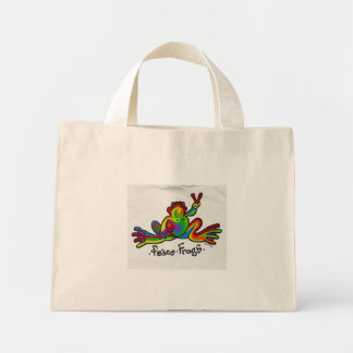 Peace Frogs Canvas Bag