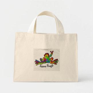 Peace Frogs Mini Tote Bag