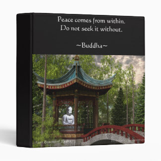Peace From Within, Buddha Quote Binder