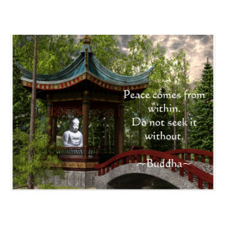 Peace From Within, Buddha Quote Postcard