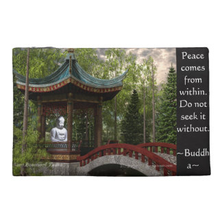 Peace From Within, Buddha Quote Travel Accessory Bag