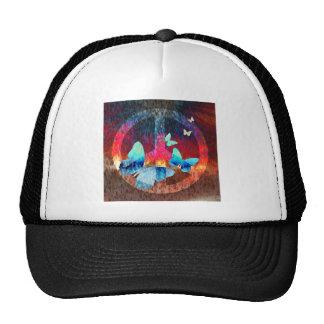 Peace-Full Blue Butterflies Trucker Hat