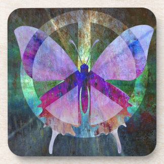 Peace-Full Butterfly Drink Coaster