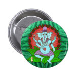 Peace Ganesh Dancing 2 Inch Round Button