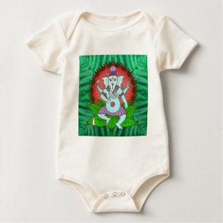 Peace Ganesh Dancing Baby Bodysuit