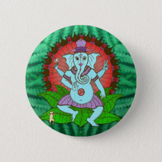 Peace Ganesh Dancing Button