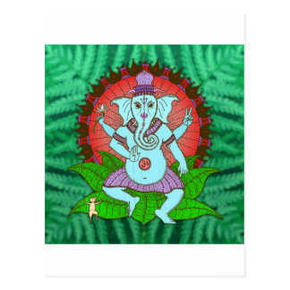 Peace Ganesh Dancing Postcard