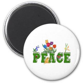 Peace Garden 2 Inch Round Magnet