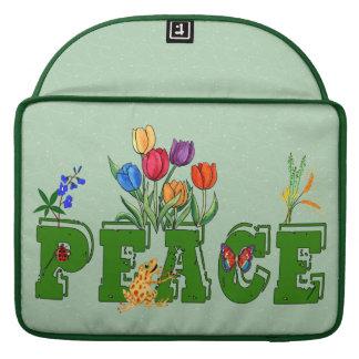 Peace Garden Sleeves For MacBook Pro