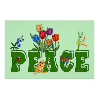 Peace Garden Posters