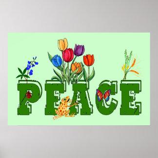 Peace Garden Poster