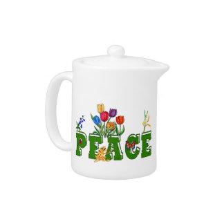 Peace Garden Teapot