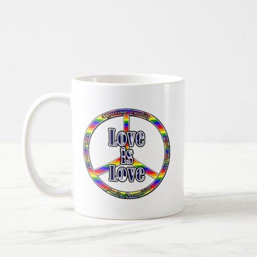 Peace Gay Rights Coffee Mug