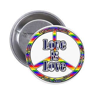 Peace Gay Rights Pinback Button