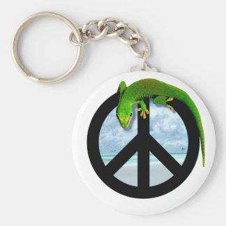 PEACE GECKO KEYCHAIN