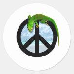 PEACE GECKO STICKERS