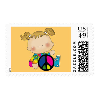Peace - Girl Tshirts and Gifts Postage