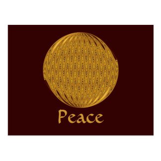 Peace gold circle postcard