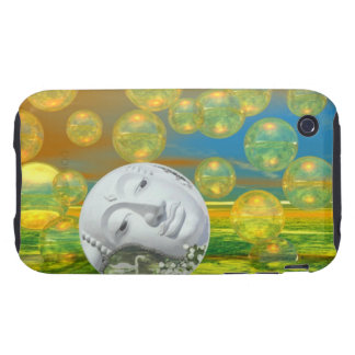Peace – Golden and Emerald Serenity iPhone 3 Tough Cases