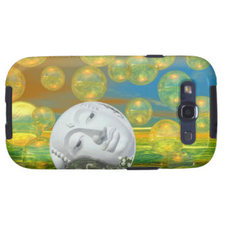 Peace – Golden and Emerald Serenity Galaxy S3 Cases