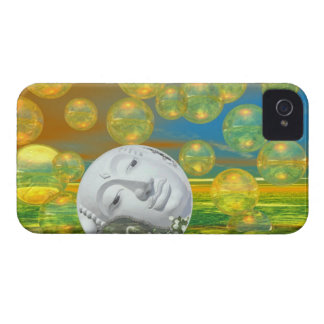 Peace – Golden and Emerald Serenity iPhone 4 Case