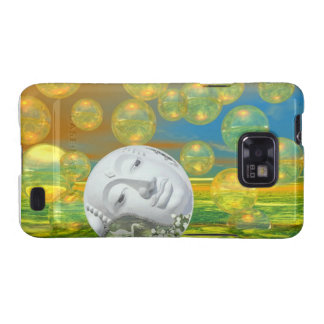 Peace – Golden and Emerald Serenity Samsung Galaxy SII Case