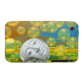 Peace – Golden and Emerald Serenity iPhone 3 Case