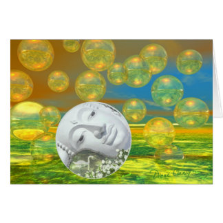 Peace – Golden and Emerald Serenity Greeting Card