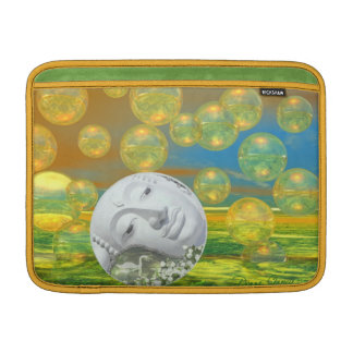 Peace – Golden and Emerald Serenity MacBook Air Sleeve