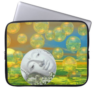 Peace – Golden and Emerald Serenity Laptop Computer Sleeve