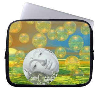 Peace – Golden and Emerald Serenity Laptop Sleeve