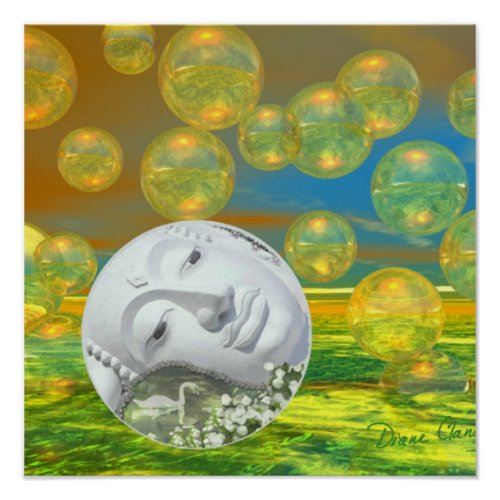 Peace – Golden and Emerald Serenity Poster