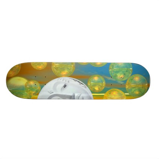 Peace – Golden and Emerald Serenity Skate Board Deck