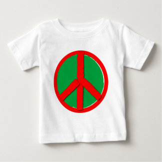 Peace - Green and Red Baby T-Shirt