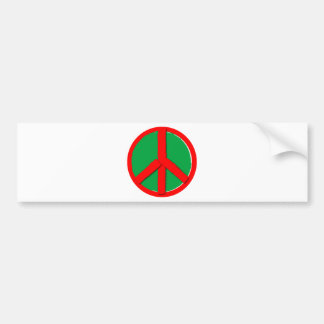 Peace - Green and Red Bumper Stickers