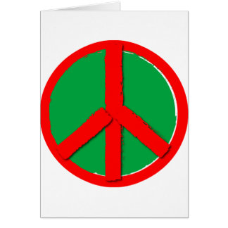 Peace - Green and Red Card