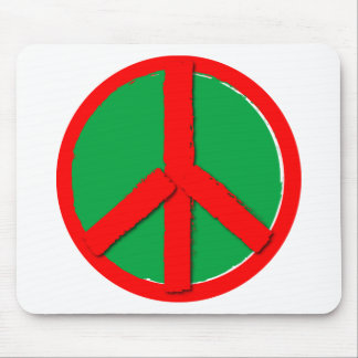 Peace - Green and Red Mouse Pad