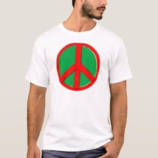 Peace - Green and Red T-Shirt