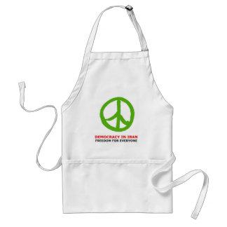 peace green apron