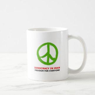 peace green coffee mug