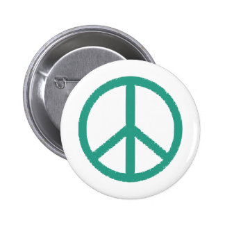 peace green pinback button