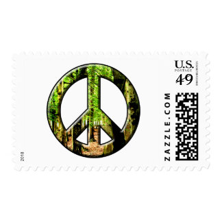 Peace Green Postage Stamps